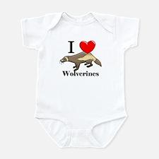 I Love Wolverines Infant Bodysuit