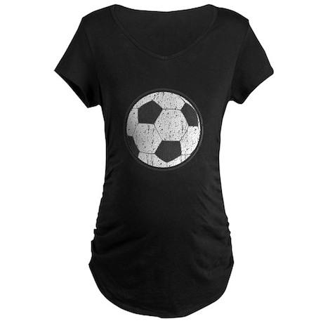 Vintage Soccerball Maternity Dark T-Shirt