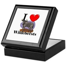 I Love Wildebeests Keepsake Box