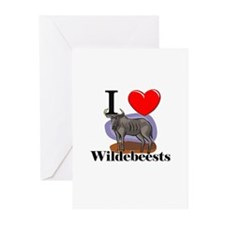 I Love Wildebeests Greeting Cards (Pk of 10)