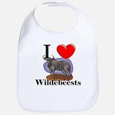 I Love Wildebeests Bib