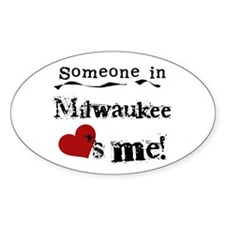 Milwaukee Loves Me Oval Decal