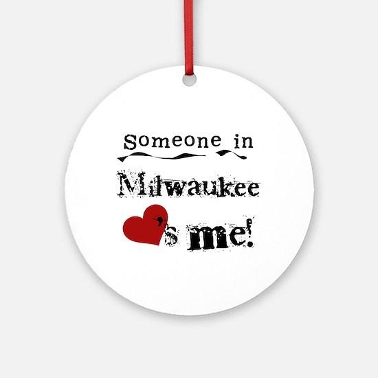Milwaukee Loves Me Ornament (Round)