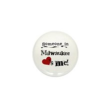 Milwaukee Loves Me Mini Button (10 pack)