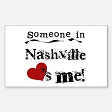 Nashville Loves Me Rectangle Decal