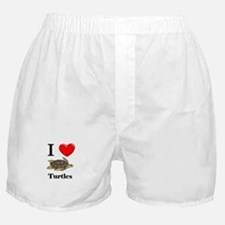 I Love Turtles Boxer Shorts