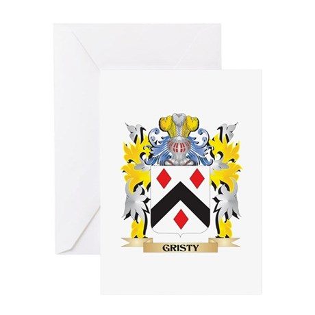 Gristy Coat of Arms - Family Crest Greeting Cards