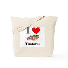 I Love Tuataras Tote Bag