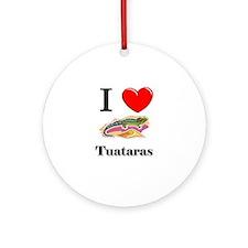 I Love Tuataras Ornament (Round)