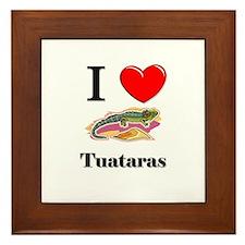I Love Tuataras Framed Tile