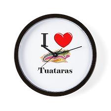 I Love Tuataras Wall Clock