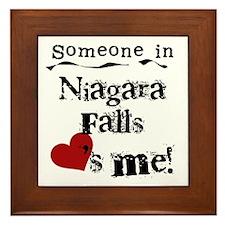 Niagara Falls Loves Me Framed Tile