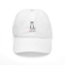 Grey Siberian Husky Baseball Cap