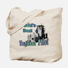 World's Best Tugboat Pilot t Tote Bag