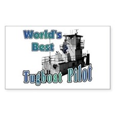 World's Best Tugboat Pilot t Rectangle Decal