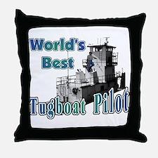 World's Best Tugboat Pilot t Throw Pillow