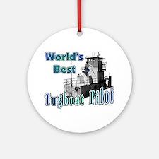 World's Best Tugboat Pilot t Ornament (Round)