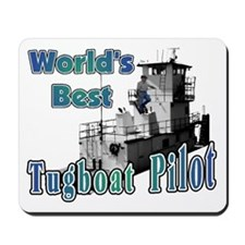 World's Best Tugboat Pilot t Mousepad