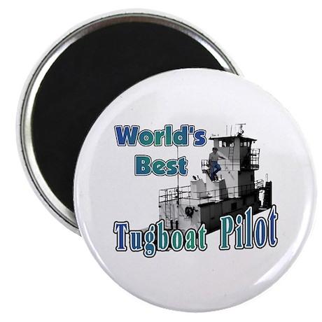 World's Best Tugboat Pilot t Magnet
