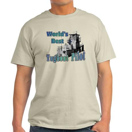 World's Best Tugboat Pilot t Light T-Shirt