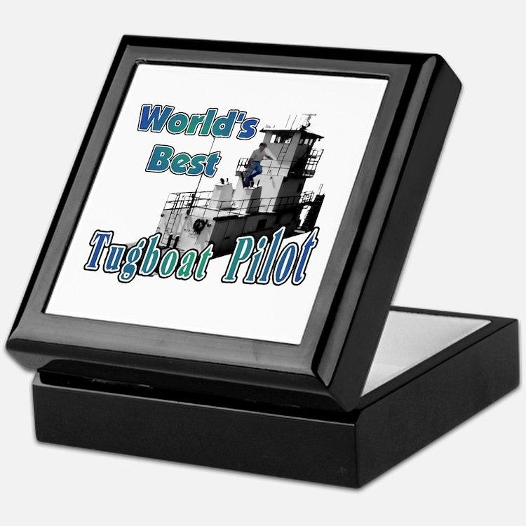 World's Best Tugboat Pilot t Keepsake Box