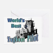 World's Best Tugboat Pilot t Greeting Card