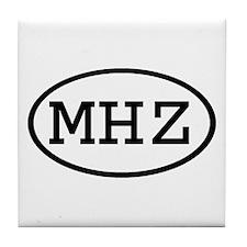 MHZ Oval Tile Coaster