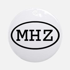 MHZ Oval Ornament (Round)