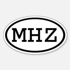 MHZ Oval Oval Decal