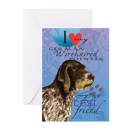 German Wirehaired Pointer Greeting Cards (Pk of 10