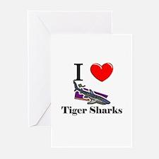 I Love Tiger Sharks Greeting Cards (Pk of 10)