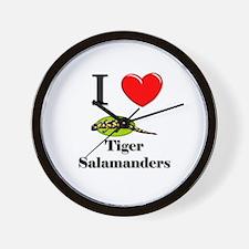 I Love Tiger Salamanders Wall Clock