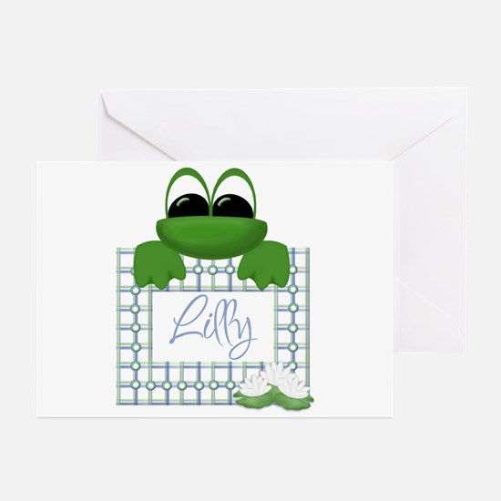 Lilly's Pad - Any Name Greeting Cards (Package of