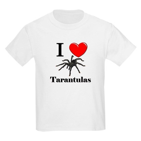 I Love Tarantulas Kids Light T-Shirt