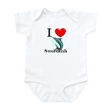 I Love Swordfish Infant Bodysuit