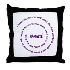 Namaste and its Meaning in Sacred Purple Throw Pil