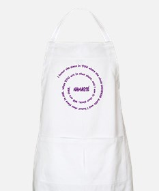 Namaste and its Meaning in Sacred Purple BBQ Apron