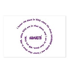 Namaste and its Meaning in Sacred Purple Postcards