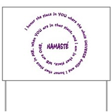 Namaste and its Meaning in Sacred Purple Yard Sign