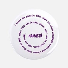 "Namaste and its Meaning in Sacred Purple 3.5"" Butt"