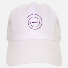 Namaste and its Meaning in Sacred Purple Baseball Baseball Cap