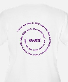 Namaste and its Meaning in Sacred Purple T-Shirt