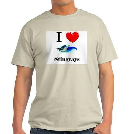 I Love Stingrays Light T-Shirt