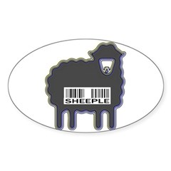 Sheeple Oval Decal