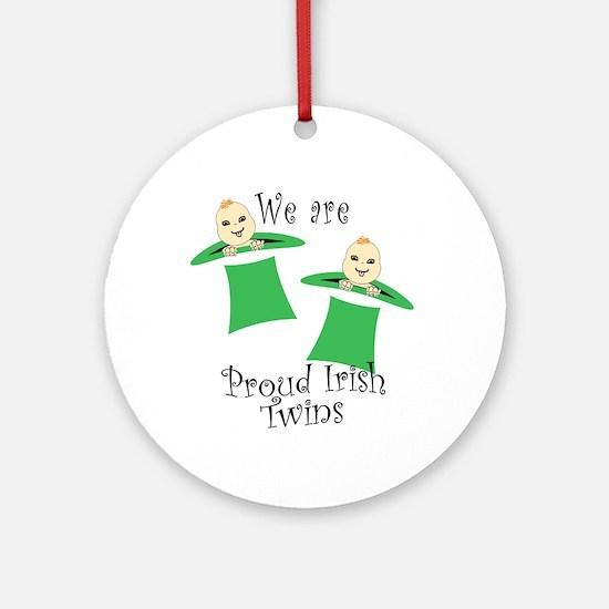 Proud Irish Twins Ornament (Round)