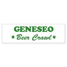 GENESEO beer crawl Bumper Bumper Sticker