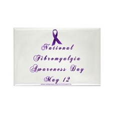 Ntl Fibro Day Rectangle Magnet