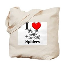 I Love Spiders Tote Bag
