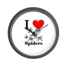 I Love Spiders Wall Clock