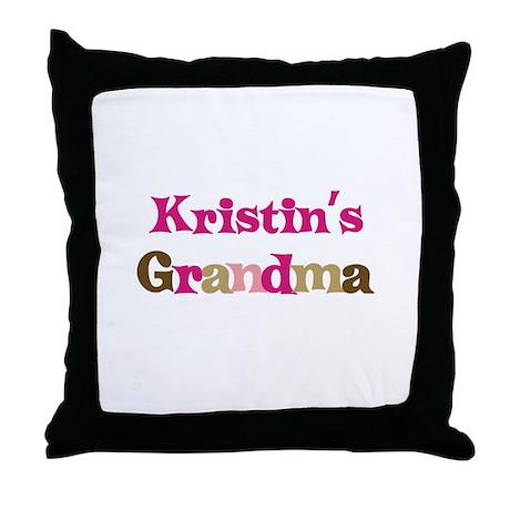 Kristin's Grandma Throw Pillow